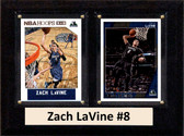 "NBA 6""X8"" Zach LaVine Minnesota Timberwolves Two Card Plaque"