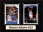 "NBA 6""X8"" Steven Adams Oklahoma City Thunder Two Card Plaque"