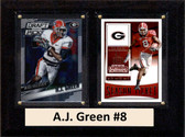"NCAA 6""X8"" A.J. Green Georgia Bulldogs Two Card Plaque"
