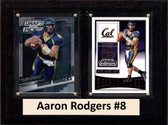 "NCAA 6""X8"" Aaron Rodgers California Golden Bears Two Card Plaque"