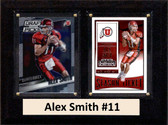 "NCAA 6""X8"" Alex Smith Utah Utes Two Card Plaque"