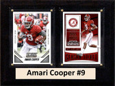 "NCAA 6""X8"" Amari Cooper Alabama Crimson Tide Two Card Plaque"