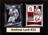 "NCAA 6""X8"" Andrew Luck Stanford Cardinal Two Card Plaque"