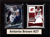 "NCAA 6""X8"" Antonio Brown Central Michigan Two Card Plaque"