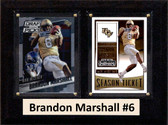 "NCAA 6""X8"" Brandon Marshall UCF Knights Two Card Plaque"