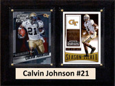 "NCAA 6""X8"" Calvin Johnson Georgia Tech Yellow Jackets Two Card Plaque"