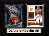 "NCAA 6""X8"" DeAndre Hopkins Clemson Tigers Two Card Plaque"