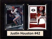 "NCAA 6""X8"" Justin Houston Georgia Bulldogs Two Card Plaque"