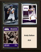 "NCAA 8""X10"" Andy Dalton TCU Horned Frogs Three Card Plaque"