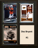 "NCAA 8""X10"" Dez Bryant Oklahoma State Cowboys Three Card Plaque"