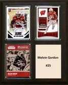 "NCAA 8""X10"" Melvin Gordon Nebraska Cornhuskers Three Card Plaque"