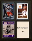 "NCAA 8""X10"" DeAndre Hopkins Clemson Tigers Three Card Plaque"
