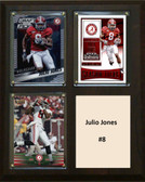 "NCAA 8""X10"" Julio Jones Alabama Crimson Tide Three Card Plaque"