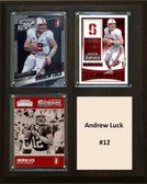 "NCAA 8""X10"" Andrew Luck Stanford Cardinal Three Card Plaque"