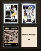 """NCAA 8""""X10"""" Marcus Mariota Oregon Ducks Three Card Plaque"""