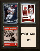 "NCAA 8""X10"" Philip Rivers NC State Wolfpack Three Card Plaque"
