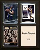 """NCAA 8""""X10"""" Aaron Rodgers California Golden Bears Three Card Plaque"""