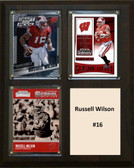 "NCAA 8""X10"" Russell Wilson Wisconsin Badgers Three Card Plaque"