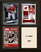 "NCAA 8""X10"" JJ Watt Wisconsin Badgers Three Card Plaque"