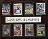 "NFL 12""x15"" New England Patriots Super Bowl 51 - 8-Card Plaque"