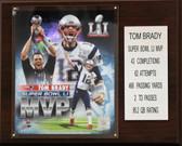 "NFL 12""x15"" Tom Brady New England Patriots Super Bowl LI MVP Plaque"