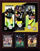 "NFL 12""x15"" Ward-Stallworth-Brown Pittsburgh Steelers Legacy Collection Plaque"