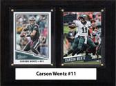"NFL 6""X8"" Carson Wentz Philadelphia Eagles Two Card Plaque"