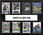 "NFL 12""x15"" Greg Olsen Carolina Panthers 8-Card Plaque"