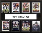 "NFL 12""x15"" Von Miller Denver Broncos 8-Card Plaque"