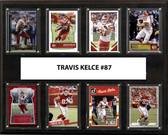 """NFL 12""""x15"""" Travis Kelce Kansas City Chiefs 8-Card Plaque"""