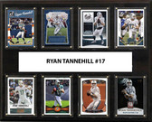 "NFL 12""x15"" Ryan Tannehill Miami Dolphins 8-Card Plaque"