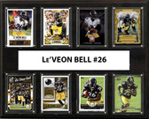 "NFL 12""x15"" Le'Veon Bell Pittsburgh Steelers 8-Card Plaque"