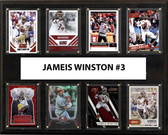 "NFL 12""x15"" Jameis Winston Tampa Bay Buccaneers 8-Card Plaque"