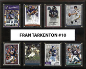 "NFL 12""x15"" Fran Tarkenton Minnesota Vikings 8-Card Plaque"