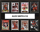 "NFL 12""x15"" Alex Smith Kansas City Chiefs 8-Card Plaque"