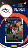 NFL Denver Broncos Licensed 2017 Donruss Team Set.
