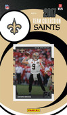 NFL New Orleans Saints Licensed 2017 Donruss Team Set.