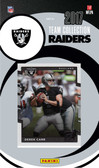 NFL Oakland Raiders Licensed 2017 Donruss Team Set.