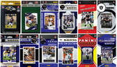 Baltimore Ravens12 Different Licensed Trading Card Team Sets