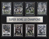 "NFL 12""x15"" PhiladelphiaEagles Super Bowl XLII Champions Plaque - 8-Card Plaque"