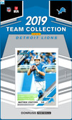 NFL Detroit Lions Licensed2019 Donruss Team Set