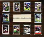 """NFL 15""""x18"""" Baltimore Ravens Super Bowl 35 - 10-Card Plaque"""