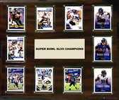 """NFL 15""""x18"""" Baltimore Ravens Super Bowl 47 - 10-Card Plaque"""