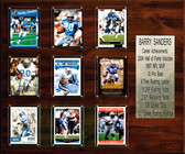 """NFL 15""""x18"""" Barry Sanders Detroit Lions Career Stat Plaque"""