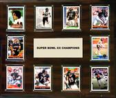 "NFL 15""x18"" Chicago Bears Super Bowl 20 - 10-Card Plaque"