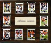 """NFL 15""""x18"""" Denver Broncos Super Bowl 50 - 10-Card Plaque"""