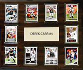 "NFL 15""x18"" Derek Carr Oakland Raiders Player Plaque"