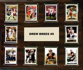 """NFL 15""""x18"""" Drew Brees New Orleans Saints Player Plaque"""