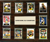 "NFL 15""x18"" Green Bay Packers Super Bowl 45 - 10-Card Plaque"