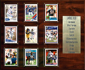 """NFL 15""""x18"""" Lawrence Taylor New York Giants Career Stat Plaque"""